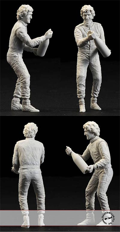 CRAFT 10 1/20 PROST CELEBRATING FIGURE for TAMIYA FUJIMI 641/2