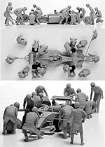 CRAFT 10 1/43 1/43 MODERN PIT CREW 15 FIGS TAMEO BBR FEELING43