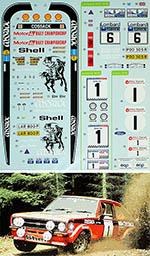 DECALCAS 1/24 FORD ESCORT MKII RAC 1976 CLARK PEGG/PORTER
