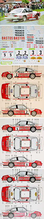 DECALCAS 1/24 OPEL MANTA 400 BASTOS TEXACO 1985 COLSOUL LOPES