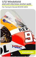 DECALCAS 1/12 HONDA RC213V 2014 PRECUT VAC FORMED WINDSCREEN