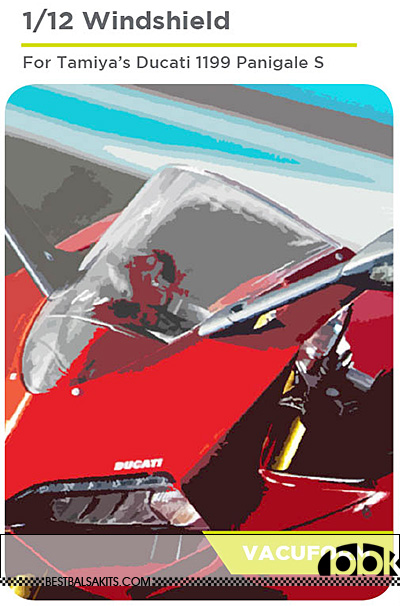 DECALCAS 1/12 DUCATI PANIGALE 1199 PRECUT VAC FORMED WINDSCREEN