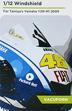 DECALCAS 1/12 YAMAHA YZR-M1 2009 PRECUT VAC FORMED WINDSCREEN