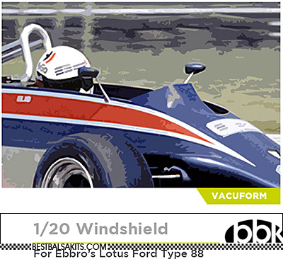 DECALCAS 1/20 LOTUS TYPE 88 PRECUT VAC FORMED WINDSCREEN