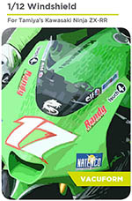 DECALCAS 1/12 KAWASAKI NINJA ZX-RR PRECUT VAC FORMED WINDSCREEN