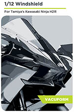 DECALCAS 1/12 KAWASAKI NINJA H2R PRECUT VAC FORMED WINDSCREEN