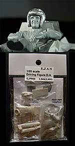 EJAN 1/20 DENNY HULME FIGURE SITTING IN BRABHAM BT24