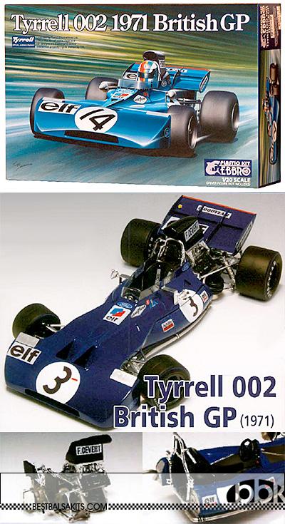 EBBRO 1/20 EBBRO TYRRELL 002 STEWART CEVERT 1971 BRITISH GP
