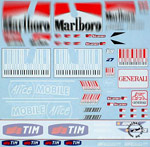ARTEFICE 1/12 SPONSOR DECAL DUCATI DESMO 09 for PMA MINICHAMPS