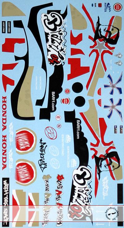 ARTEFICE 1/18 FULL DECAL BAR HONDA 006 DAVIDSON BRASIL 04 fo PMA