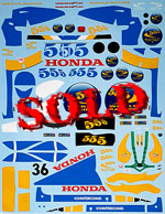 ARTEFICE 1/18 1/18 FULL DECAL HONDA RA106 GP CHINA for PMA