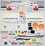 ARTEFICE 1/18 1/18 FULL SPONSOR DECAL for FERRARI F10 MATTEL