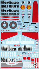 ARTEFICE 1/18 1/18 FILL IN DECAL for MATTEL FERRARI F248