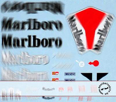 ARTEFICE 1/18 1/18 FILL IN DECAL for MATTEL FERRARI F1-2000