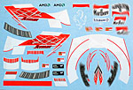 ARTEFICE 1/18 1/8 1/18 1/8 HELMET SUIT DECAL RAIKKONEN FERRARI F2007