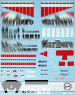 ARTEFICE 1/18 1/18 FILL IN DECALS FOR MATTEL FERRARI F2005