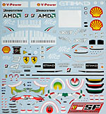 ARTEFICE 1/18 1/18 FULL SPONSOR DECAL for MATTEL FERRARI F60