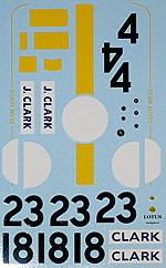 ARTEFICE 1/20 JIM CLARCK DECAL for TAMIYA 1/20 LOTUS 25