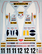 ARTEFICE 1/20 FULL SPONSOR DECAL TAMIYA 1/20 FERRARI 312T3