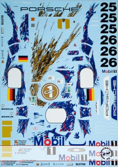 ARTEFICE 1/24 1/24 LE MANS 96 DECAL for TAMIYA 1/24 PORSCHE 911