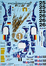 ARTEFICE 1/24 1/24 LE MANS 96 DECAL for TAMIYA 1/24 PORSCHE 911