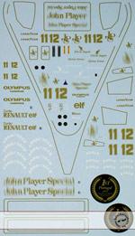 ARTEFICE 1/43 1/43 FULL SPONSOR DECAL LOTUS 97T TAMEO