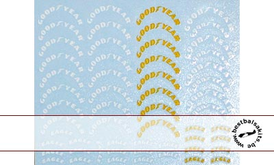 ARTEFICE 1/43 GOODYEAR TIRE DECAL for TAMEO BBR FEELING43