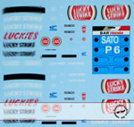 ARTEFICE 1/43 1/43 BAR005 LICKY STROKES SPONSOR DECAL for PMA