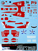 ARTEFICE 1/43 1/43 FULL SPONSOR RA106 DAVIDSON TURKEY 06 f PMA