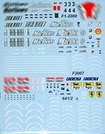 ARTEFICE 1/43 FILLS FERRARI 641/2 F1-2000 F2001 F2007 MINICHAMPS