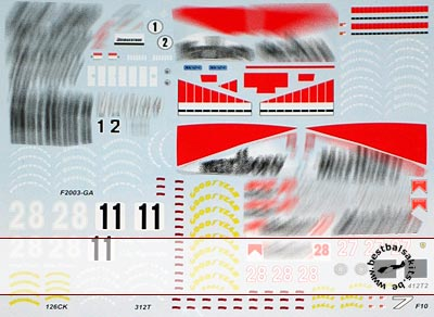 ARTEFICE 1/43 FILL IN DECAL F2005 312T F2003-GA F10 126CK