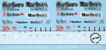 ARTEFICE 1/43 1/43 FILL IN DECAL McLAREN MP4/6 for PMA