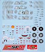 ARTEFICE 1/43 1/43 CAR + DRIVER DECAL for FERRARI F2007 MATTEL