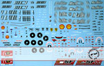 ARTEFICE 1/43 1/43 FULL SPONSOR DECAL FERRARI F2007 for MATTEL