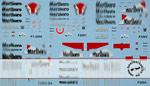 ARTEFICE 1/43 1/43 FULL SPONSOR FERRARI F1-2000 -> F2004 DECAL