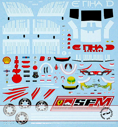 ARTEFICE 1/43 1/43 BAR CODE DECAL FERRARI F2008 for MATTEL