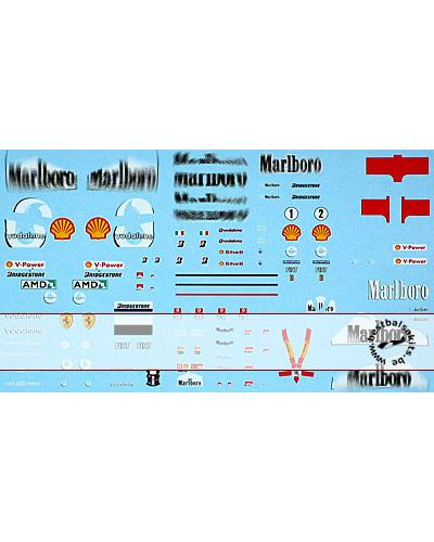 ARTEFICE 1/43 1/43 FULL SPONSOR DECAL FERRARI F2004 for MT