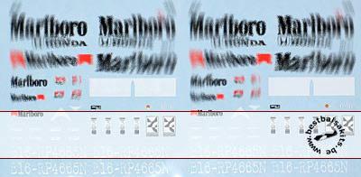ARTEFICE 1/43 1/43 FILL IN SPONSOR McLAREN MP4/7 DECAL for PMA