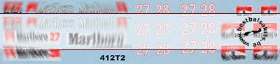 ARTEFICE 1/43 FILL IN SPONSOR FERRARI 642 412T2 DECAL for PMA