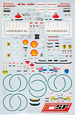 ARTEFICE 1/43 1/43 FULL CAR + DRIVER DECAL for FERRARI F10 MATTE