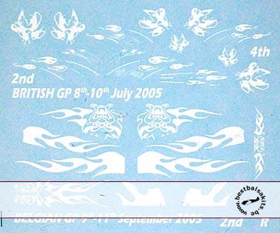 ARTEFICE 1/43 RENAULT R25 BELGIAN GP 2005