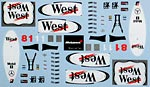 ARTEFICE 1/43 WEST DECAL for McLAREN MP4/13 HÂKKINEN COULTHARD