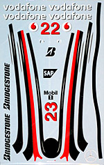 ARTEFICE 1/8 1/8 NOSE DECAL DEAGOSTINI McLAREN MP4/23 HAMILTON