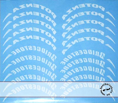 ARTEFICE 1/8 1/8 BRIDGESTONE TIRE DECAL for McLAREN MP4/23