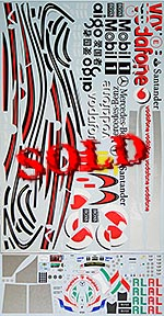 ARTEFICE 1/8 CAR BODY DRIVER HELMET DEAGOSTINI McLAREN  MP4/23