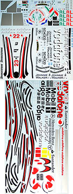 ARTEFICE 1/8 FULL SPONSOR DECAL for DEAGOSTINI McLAREN MP4-23