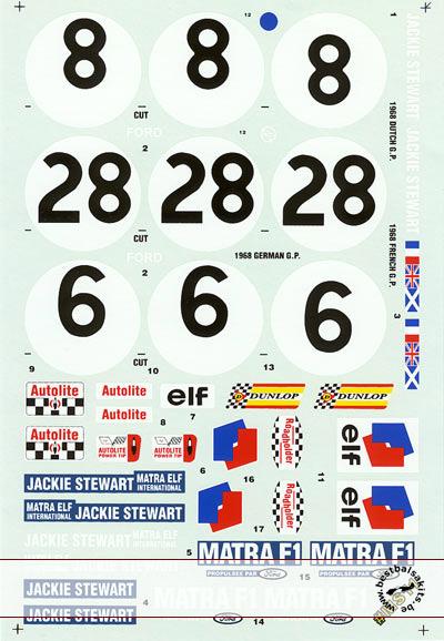 F1 SPECIALTIES 1/12 Tamiya Matra MS11