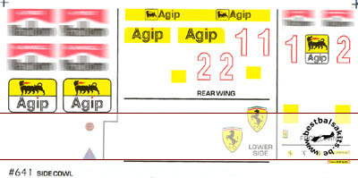 F1 SPECIALTIES 1/20 1/20 conversion decal Ferrari F189 -> 641 version