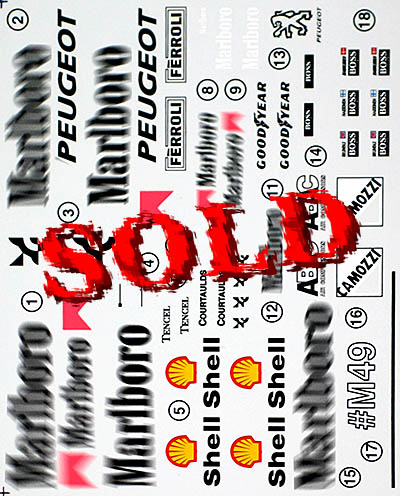 F1 SPECIALTIES 1/20 McLAREN MP4/9 TRANS DECAL for MP4/8