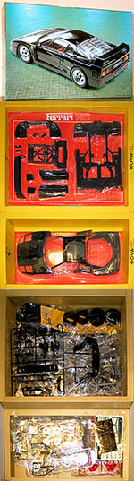 FUJIMI 1/12 BLACK FERRARI F40 HYBRID METAL & PLASTIC INJECTION